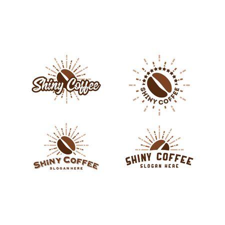 Shine Coffee logo designs concept vector, Bright coffee logo template