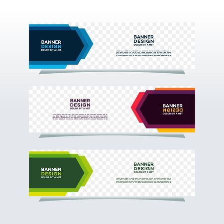 Modern web banners template with diagonal elements for a photo. Universal design for advertising business Ilustracja