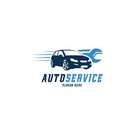 Racing Car logo designs vector, Automotive with racing Flag logo template Logo