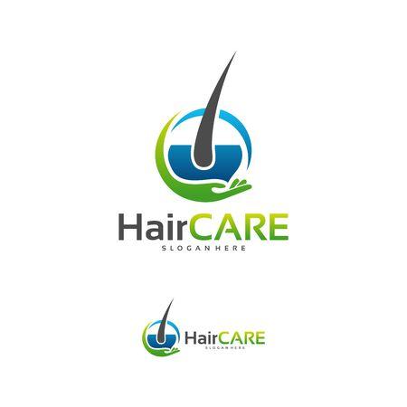 Hair Care logo designs concept vector, Hair logo designs Çizim