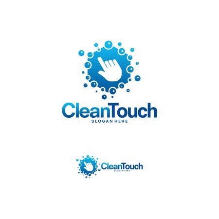 Clean Touch logo designs concept vector, Simple Clean logo template, Online Cleaning logo symbol Logó
