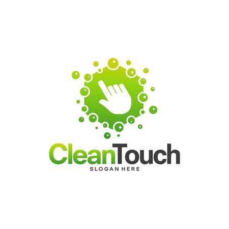 Clean Touch logo designs concept vector, Simple Clean logo template, Online Cleaning logo symbol Stock Illustratie