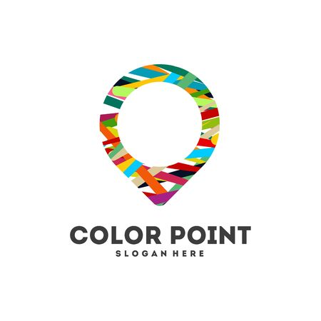 Colorful Travel Agency logo designs, Abstract Point logo template