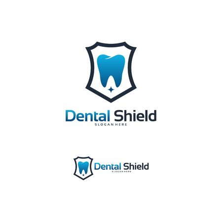 Dental shield logo designs concept, Dental Protect logo template vector 向量圖像