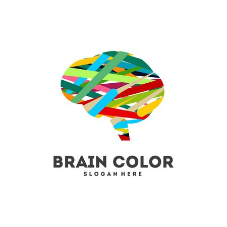 Colorful Brain logo designs concept vector, Education Brain logo designs iconColorful Brain logo designs concept vector, Education Brain logo designs icon Illustration