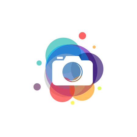 Colorful Photography vector, Camera designs template, design concept, , type element for template Vettoriali