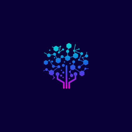Digital Tree designs concept icon