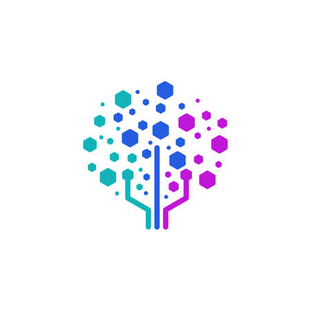 Digital Tree designs concept symbol icon