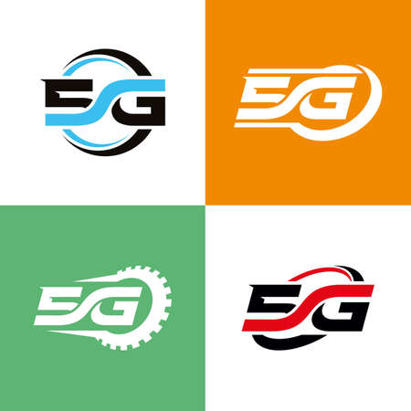 Set of 5G icon designs concept