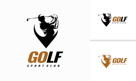 Golf Shield icon designs, Golf Sport Silhouette icon Design Template