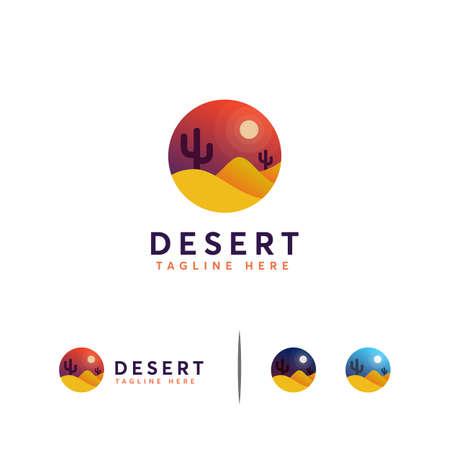 Desert logo designs concept vector, Iconic Desert Symbol