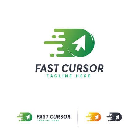 Fast Cursor logo designs concept vector, Online Logo template Logo