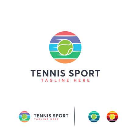 Elegant Tennis Logo designs vector, Iconic Tennis Ball logo template Logo
