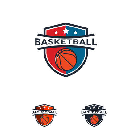 Basketball logo Badge designs, Basketball logo emblem, vector templates
