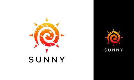 Abstract Sunny day Logo designs symbol, abstract sun vector logo template