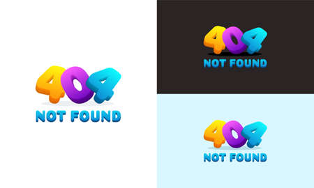 Modern Colorful 404 Page Not Found Error Background Illustration, 404 Error Background Can use for web banner, infographics,