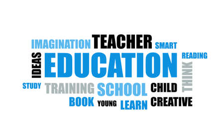 word of Education typography, Education typography text word art vector marketing illustration