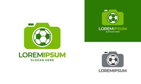 Sport Photo logo designs concept vector, Camera and Football logo icon