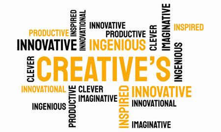 word of Creative typography, creative typography text word art vector marketing illustration Illusztráció