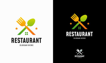 Modern Food House logo designs concept vector, Restaurant logo symbol icon Illusztráció