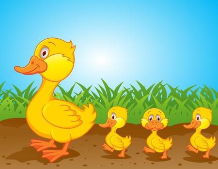 pato caricatura: Pato de dibujos animados
