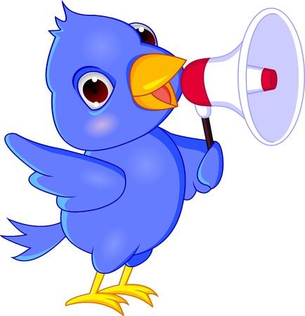 megaphone icon: Bluebird