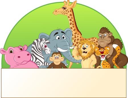 an ungulate: Illustrazione vettoriale di fumetto animale