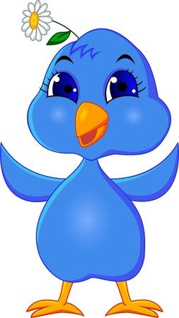 Drôle bluebird Vecteurs