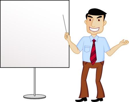 administrator: Businessman presentation