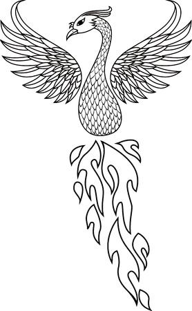 tatuaje de aves: Ave f�nix del tatuaje Vectores