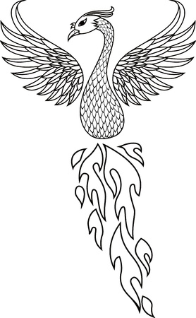 Phoenix bird tattoo  Stock Vector - 13395987