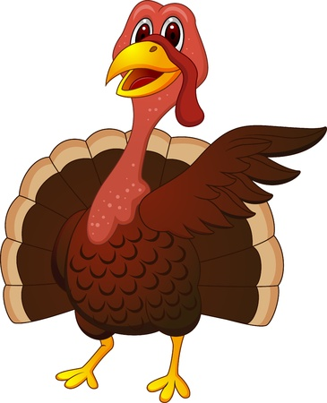 Turkey cartoon presenting  Vector