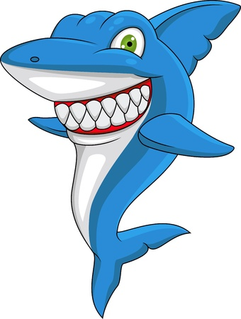 big smile: Happy shark  Illustration