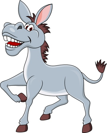 Smiling donkey cartoon  Vector