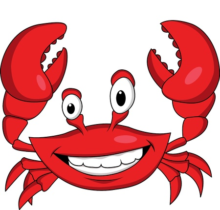 Funny crab cartoon  Stock Vector - 13394713