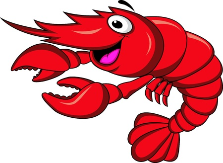 Bande dessinée de crevettes Vecteurs