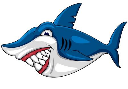 fleischfressende pflanze: W�tend Shark Cartoon