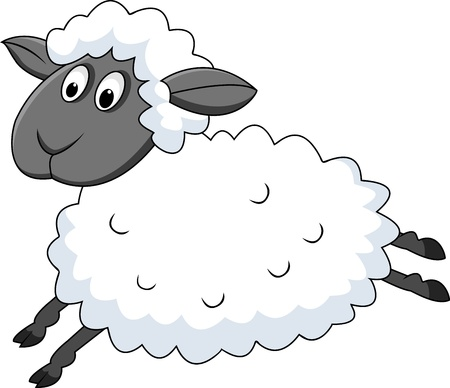 Jumping sheep  Stock Vector - 13396195