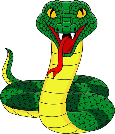 serpiente cobra: Serpiente enojada