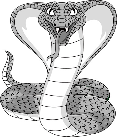 serpent � sonnette: Angry cobra tatouage Illustration