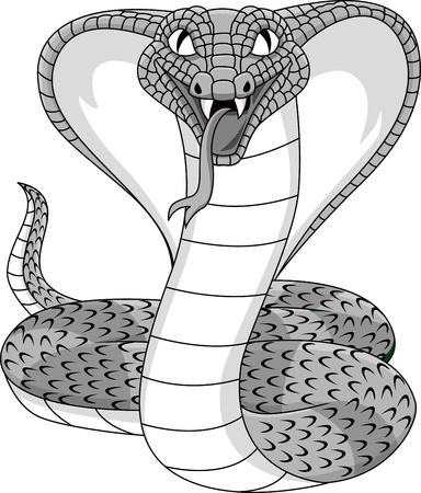 serpiente cobra: Enojado tatuaje de cobra Vectores