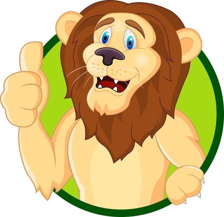 Lion cartoon Stock Vector - 13446419
