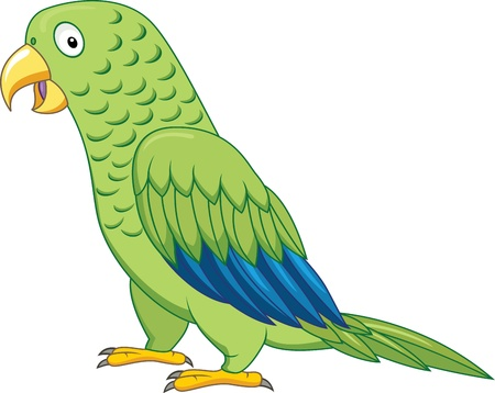 Green parrot  Stock Vector - 13446436