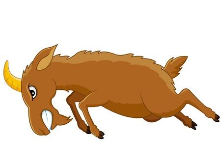 hoofed animal: De dibujos animados de cabra enojado