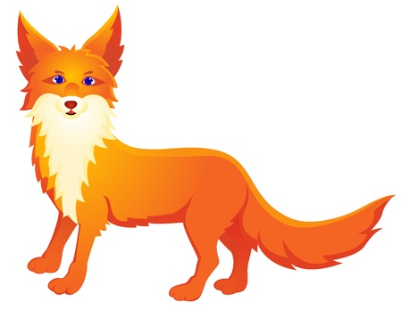 foxy: Red fox cartoon  Illustration