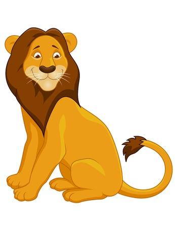Funny lion cartoon Stock Vector - 13393576