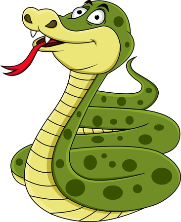 Funny snake  Stock Vector - 13393578