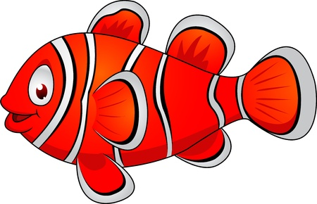Clown fish cartoon  Stock Vector - 13393588