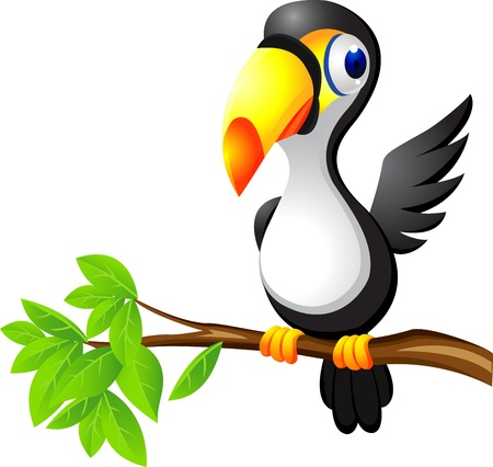 Toucan bird cartoon Stock Vector - 13393594