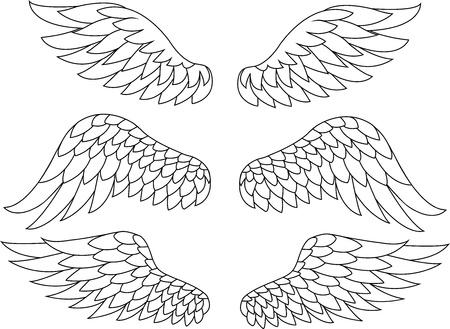tatouage ange: Silhouette Wing Illustration